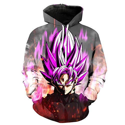 Dragon Ball Animation Unisex Hoodie 3D Drucken/Cosplay/Manga/Anime-Design Kapuzenpullover Sweatshirt Pullover,E,M
