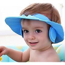 aefcd2c9ccf Doutree sûre Shampooing Douche Bain de bain Protection capuchon doux pour  enfant Chapeau Visière réglable pour