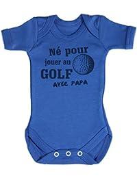 TRS - Né pour jouer an Golf Body bébé 100% Coton