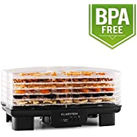 Klarstein Bananarama • Dörrgerät • Dörrautomat • Obst-, Fleisch- und Früchte-Trockner • 6 Etagen • stapelbar • 550 W • einstellbare Temperatur • Umluftbetrieb • LCD-Display • BPA-frei • schwarz