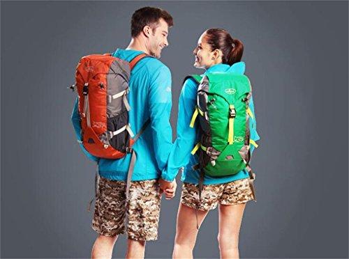 Uomini e donne all'aperto borsa a tracolla zaino da escursione borsa da viaggio 40L ( Colore : Blu , dimensioni : 40L ) Arancia