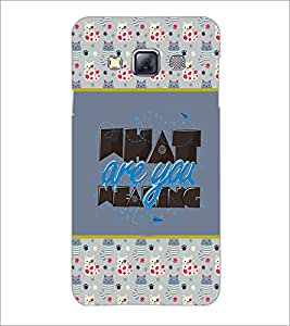 PrintDhaba Quote D-4151 Back Case Cover for SAMSUNG GALAXY A3 (Multi-Coloured)