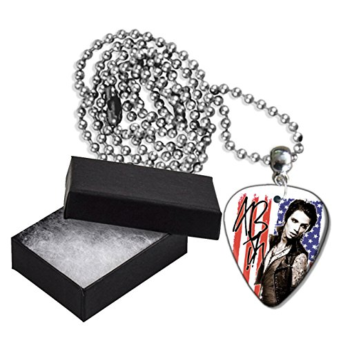 Andy Biersack Black Veil Brides Flag Metal Guitar Plektron Necklace Ball Chain Kette Black Veil Brides-instrumente