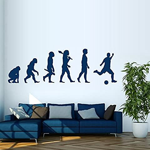 Evolution Football - Sticker mural gris clair 307 x 100 cm (Muraux Décoration Murale Stickers Wall Decal Autocollants Salon Chambre d'enfants Nursery Made in Germany)