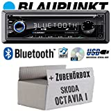 Skoda Octavia 1 1U - BLAUPUNKT Barcelona 230 - Bluetooth | CD | MP3 | USB Autoradio - Einbauset