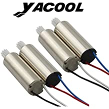 Yacool ® Upgraded 4pcs Anti-clockwise and Clockwise Motor with RC Quadcopter Spare Parts for Syma X5SW, X5SW-1,X5SC