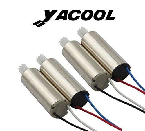 Yacool ® Aggiornato 4 pezzi motore in senso orario e antiorario con RC Quadcopter Ricambi per Syma X5SW, X5SW-1, X5SC,