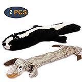 GingerUP Hundespielzeug mit Quietscher, strapazierfähiges Plüsch-Quietschspielzeug für mittelgroße und große Hunde, 2 Stück