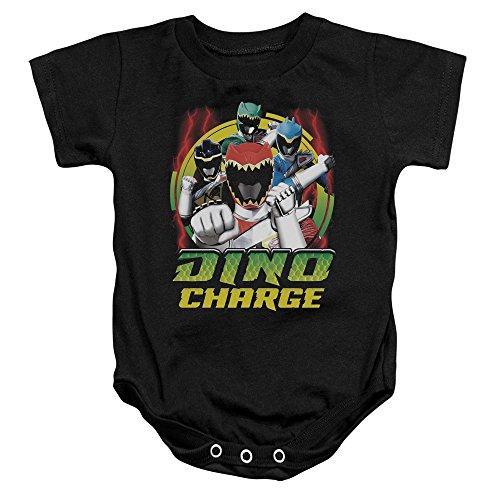 Power Rangers - - Toddler Dino foudre Onesie, 6 Months, Black