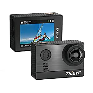 """ThiEYE T5e 4K Action Camera,Processor Ambarella A12S Sony IMX117 Sensor,16MP,2.0"""" Screen,60 Meter WIFI Waterproof Sports Cameras with 170 Degree Wide Lens"""