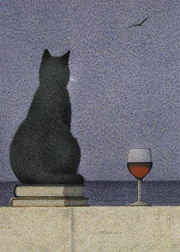 Postkarte A6 • 12838 ''Katze am Meer'' von Inkognito • Künstler: Quint Buchholz • Katzen -