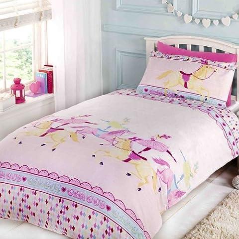 Homespace Direct Parure de lit pour fille Imprimé chevaux de