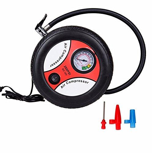 Preisvergleich Produktbild Tragbare Mini Auto Luftkompressor Reifen Inflator Auto Reifenpumpe Elektrische Aufblasmaschine 260PSI DC12V Mit Düse Adapter