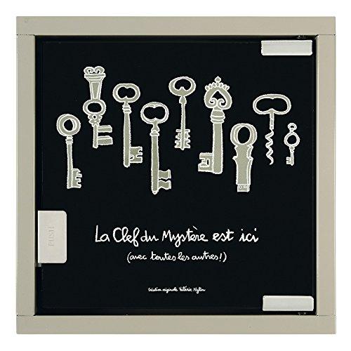 derrire-la-porte-armadietto-per-chiavi-motivo-mistero-dietro-la-porta-scritta-in-francese-colore-ner