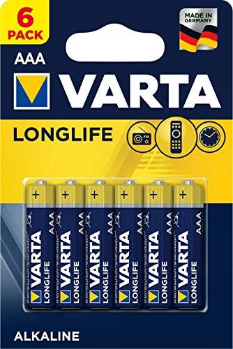 Varta Longlife AAA Micro Alkaline Batterien LR03 (6er Pack)