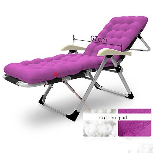 FEIFEI Fauteuils inclinables Accueil chaise pliante Chaise longue Chaise de plage Siesta lit fauteuil 7-réglage de la vitesse retour Pliant (Couleur : .E)