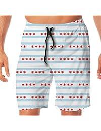 da7c61c63 DDOBY Chicago Flag - Tiny 971 Men Swim Trunks Surf Beach Holiday Party  Pantalones Cortos de baño
