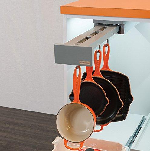 Glideware 14in 5-Hook Organizer Blum Soft Close Gray