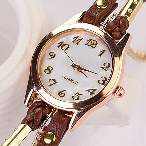 Habors Multiband Classic Watch Brown Bracelet With Chains