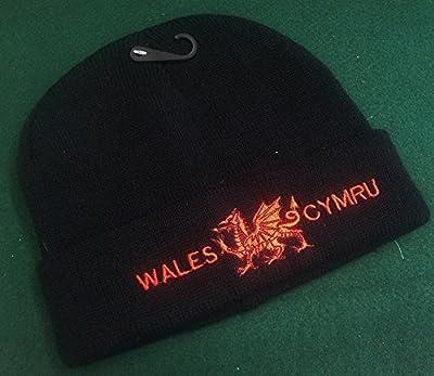 Wales Cymru Black Ski Hat [pnd] by Welshsuperstore welsh Gifts
