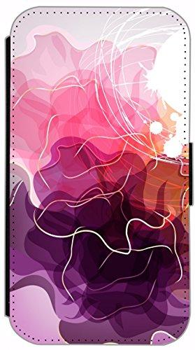 Kuna Flip Cover für Apple iPhone 5 / 5s Design K268 Panda Hülle aus Kunst-Leder Handy Tasche Etui mit Kreditkartenfächern Schutzhülle Case Wallet Buchflip Rückseite Schwarz Vorderseite Bedruckt mit Bi K259