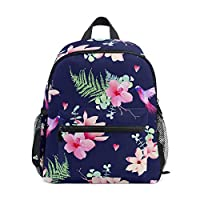 Mini Backpack Daypack Animal Hummingbird Flower Pattern Pre-School Bag Lightweight for Girls Boys Kids