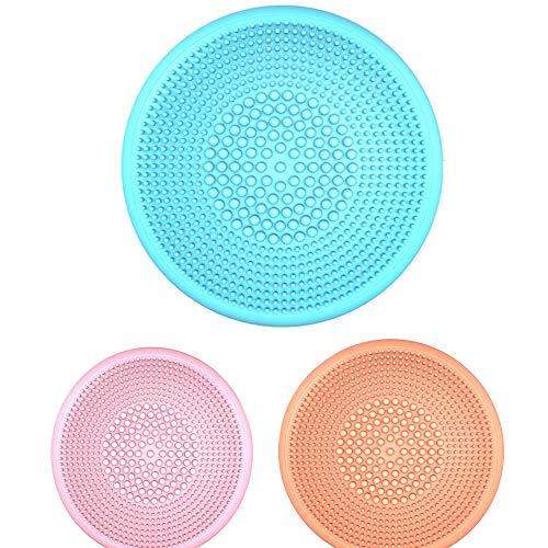 Silikon-Face Wash Instrument, Kleine Elektro-Reinigungsbürste, Miniultraschallreinigungsinstrument Artifact Waschbürste (3Pcs)