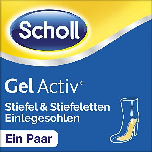 Scholl GelActiv Einlegesohlen für Stiefel & Stiefeletten von 35-40,5 - Polsterung & Druckentlastung am Fußballen & Fußgewölbe - 1 Paar selbstklebende Gelsohlen (Dr. Scholls Heels)