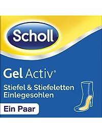 Scholl GelActiv Einlegesohlen für Stiefel und Stiefeletten von 35-40,5 (Polsterung und Druckentlastung am Fußballen und Fußgewölbe) 1 Paar selbstklebende Gelsohlen