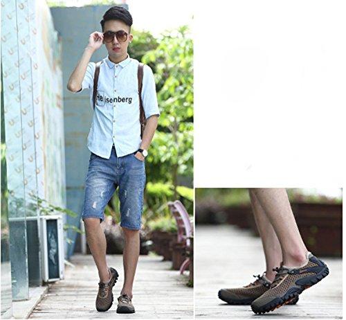 Sneakers moda uomo Lace-up leggero in mesh traspirante Tulle Primavera Estate Sport all'aria aperta Scarpe da corsa Scarpe da ginnastica comfort Gray