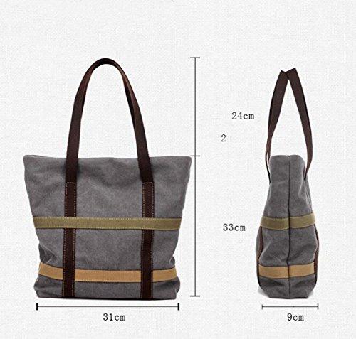 Segeltuchhandtaschen Umhängetasche Große Kapazität Große Beutelsegeltuchbeutel Brown