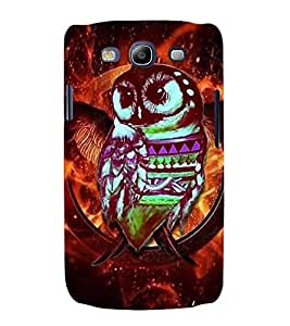 PrintVisa Birds Modern Art Owl 3D Hard Polycarbonate Designer Back Case Cover for Samsung Galaxy S3