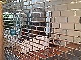 MY-Furniture verspiegelte silberne Fliese - Fliesen mit abgeschraegtem Glas - Ideal fuer Badezimmer und Kueche -