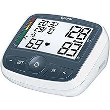 Beurer BM 40 - Tensiómetro de brazo con adaptador, indicador OMS, memoria 2 x