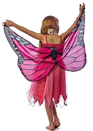m Monarch pink Gr.S 4-5 Jahre (Tinkerbell Dress Up Kostüme)