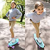 ENKEEO 57cm Mini Cruiser Board Skateboard mit stabilen Deck 4 PU-Rollen für Kinder, Jugendliche und Erwachsene - 2