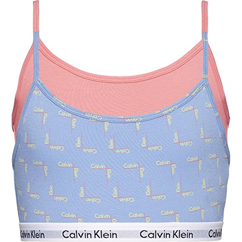 Calvin Klein Girls 2 Pack Modern Cotton String Bralette -CRNA LG PRVNC/PNK LMND