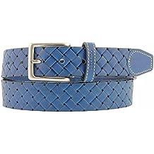 Cinturón piel grabada