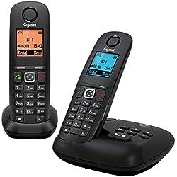Gigaset A540A Duo Noir Téléphone Sans fil DECT/GAP Répondeur 2 combinés