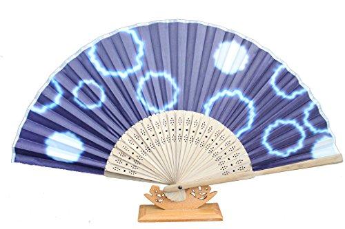 AAF Nommel  , 1 STK. Sommerfächer Deko Hochzeit Fächer aus Holz und Stoff Wasserfest Nr 543