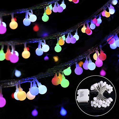 B-right Guirnalda de Luces, 4.5M 40 LED Multicolor, 8 Modos de Iluminación, a Pilas, Resistente al Agua IP44, Cadena de Luces Exterior/Interior Decoración para Jardín, Casa, Patio, Navidad, Fiesta, Boda, Festival,etc