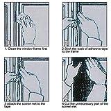 SStaste Fenster Insektenschutz Net 2Pack mit 4Rollen Selbstklebend Tapes, Mesh-Fly Bug Mesh Kit Insektenschutz Fenster Mosquito Protector Kit 1,3m x 1.5m, weiß