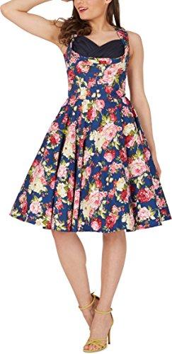 Black Butterfly 'Aura' Classic Divinity Kleid im 50er-Jahre-Stil (Nachtblau, EUR 52 – 5XL) - 5