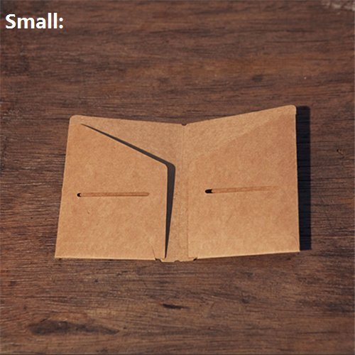 chris-wang 1Traveler 's Notebook Refill Reißverschluss Schutzhülle Klar PVC Name Card/invocice/Papier/Note Pocket Tasche Größe S braun