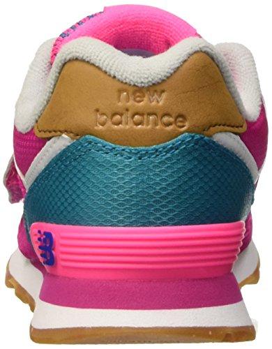 New Balance Nbkv574t4p, Scarpe Low-Top Unisex – Bambini Rosa (Pink Blue)