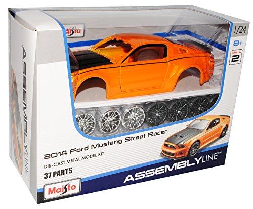 Ford Mustang Coupe Orange V 2. Generation 2010-2014 39127 Bausatz Kit 1/24 Maisto Modell Auto
