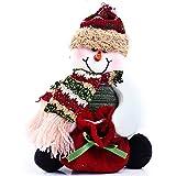 Feichen Papá Noel Muñeco de nieve Reno Adorno de Navidad Bolsas para Dulce (Muñeco de nieve)