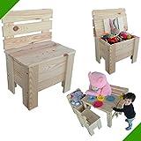 Kinderstuhl Holzstuhl Gartenstuhl Truhe Kiefer Massiv Stuhl aus Holz