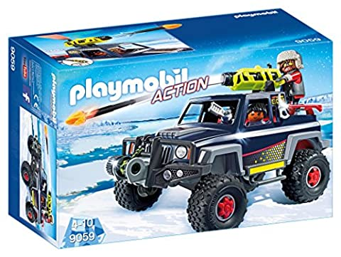 Playmobil 9059 Ice Pirate Truck with rope winch and giant cannon