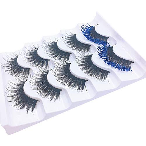 MRULIC 10 Pairs 3D 100% Handgefertigte Künstliche Wimpern Dickes Augen Lashes Falsche Wimpern (F-5 Paare)